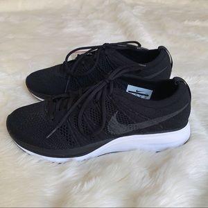Nike Black + White Flyknit Trainer Sneakers